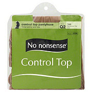No Nonsense Control Top Pantyhose Reinforced Toe Tan Size Q2