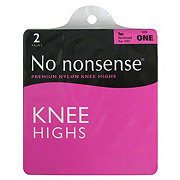 No Nonsense Knee Highs Reinforced Toe