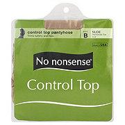 No Nonsense Nude Control Top Pantyhose Size B