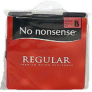No Nonsense Off Black Regular Panty Hose Size B