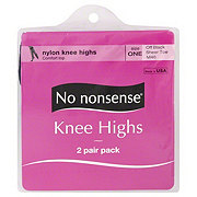 No Nonsense Sheer Toe Off Black Knee Highs One Size