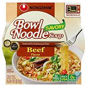 Nongshim Bowl Beef Flavor Savory Bowl Noodle Soup