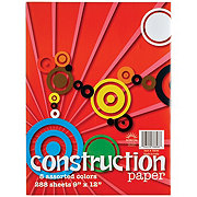 Norcom 8 Assorted Colors Construction Paper Jumbo Value Pack, 9x12 in