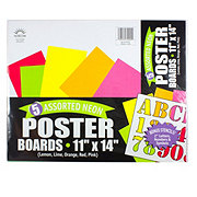 Norcom Assorted Neon Poster Boards