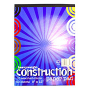 Norcom Heavyweight Construction Paper 40 Sheet Pad 10 Assorted Colors