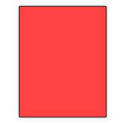 Norcom Premium Poster Board, Neon Red