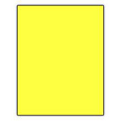Norcom Premium Poster Board, Neon Yellow