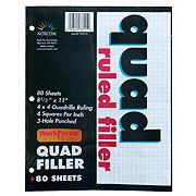 Norcom Quad Ruled Filler Paper 80 Sheets, 8-1/2