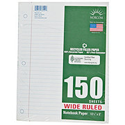 Norcom Wide Ruled 150 Sheet Recycled Filler Notebook Paper