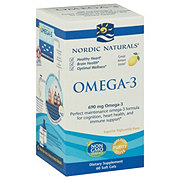 Nordic Naturals Omega-3 Purified Fish Oil 1000 mg Soft Gels, Lemon