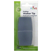 Nova Folding Walker Tips, Grey 2 Pack