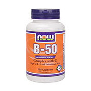 NOW B-50 with Vitamin C 250 mg Capsules