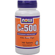 NOW C-500 mg with Rose Hips Tablets