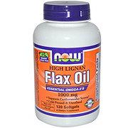 NOW High Lignan Flax Oil 1000 mg Softgels