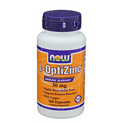 NOW L-OptiZinc 30 mg Capsules