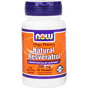 NOW Natural Resveratrol 200 mg Veg Capsules