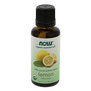 NOW Organic Essential Oils 100% Pure Lemon Oil