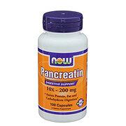 NOW Pancreatin 10x - 200 mg Capsules