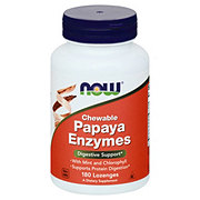 NOW Papaya Enzymes Chewable Lozenges