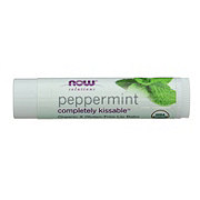 NOW Peppermint Completely Kissable Organic Lip Balm
