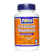 NOW Potassium Gluconate 99 mg Tablets