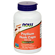 NOW Psyllium Husk Caps 500 mg Capsules