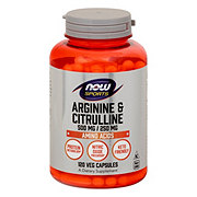 NOW Sports Arginine & Citrulline 500/250 mg Capsules