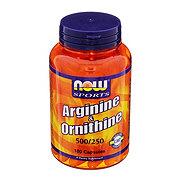 NOW Sports Arginine & Ornithine 500/250 mg Capsules