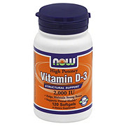NOW Vitamin D-3 2000 IU Softgels