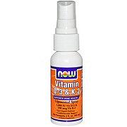 NOW Vitamin D-3 & K-2 Laiposomal Spray