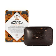 Nubian Heritage African Black Soap with Oats, Aloe, and Vitamin E