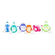 Nuby 3 Stage Grow Non-Drip Bottle, Assorted Colors