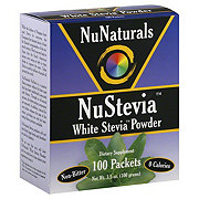NuNaturals NuStevia White Stevia Packets
