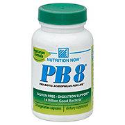 Nutrition Now PB 8 Probiotic Acidophilus Vegetarian Non-Gelatin Capsules