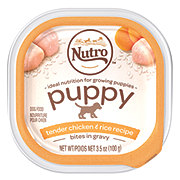 Nutro Petite Eats Puppy Tender Chicken and Rice Recipe Bites in Gravy Dog Food