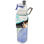 O2COOL Mist N Sip Insulated Bottle Wave Collection