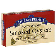 Ocean Prince Fancy Whole Smoked Oysters in Cottonseed Oil