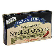 Ocean Prince Smoked Oysters with Red Chili Peppers