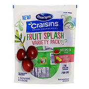 Ocean Spray Craisins Fruit Splash Dried Cranberries Variety Pack