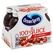 Ocean Spray No Sugar Added 100% Cranberry Juice 10 oz Bottles