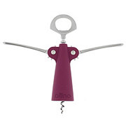 Oenophilia Athena Rubberized Wing Corkscrew Assorted Colors