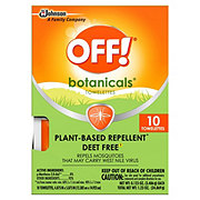 OFF! Botanicals Insect Repellent Towelettes