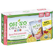 Oh-So Organic Berry Pink Lemonade Organic Fruit Drinks 8 PK
