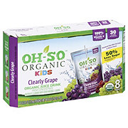 Oh-So Organic Kids Clearly Grape Organic Juice  8 PK