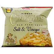 Oishi Classic Ribbed Cracklings In Old Fashioned Salt and Vinegar