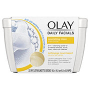 Olay Daily Facial Nourishing Cleansing Cloths Tub with Shea Butter