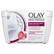 Olay Daily Hydrating Cleansing Cloths Tub with Grapeseed Extract