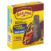 Old El Paso Tortilla Shells Stand n' Stuff Blue Corn