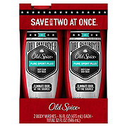 Old Spice Dirt Destroyer Pure Sport Plus Body Wash Twin Pack