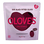 Oloves Chili & Garlic Ripe Black Pitted Olives